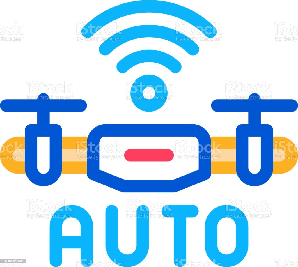 Drone Auto Return Home Icon Vector Outline Illustration Stock Illustration Download Image Now Istock