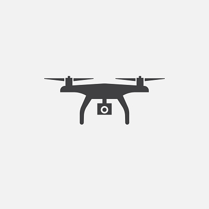 drone base icon. Simple sign illustration. drone symbol design. Can be used for web, print and mobile