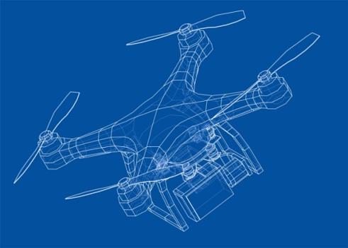 Drone concept. Vector
