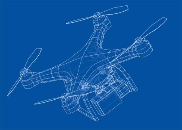 ilustrações de stock, clip art, desenhos animados e ícones de drone concept. vector - drone