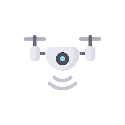 Drone Flat Icon.