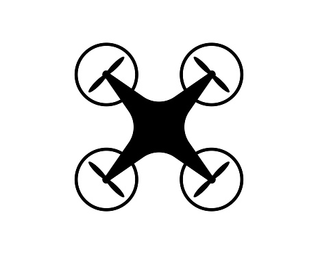 Drone icon in trendy flat style isolated on background. Drone icon page symbol for your web site design Drone icon logo, app, UI. Drone icon Vector illustration, EPS10