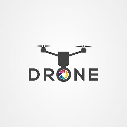Drone icon logo vector design