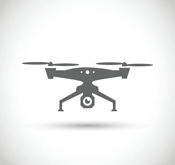 Drone icon vector illustration Drone icon  - vector illustration isolated on white background aviation and environment summit stock illustrations