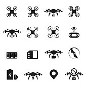 Drone icon vector set , illustration