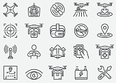 Drone Line Icons