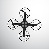 Drone or quadcopter icon