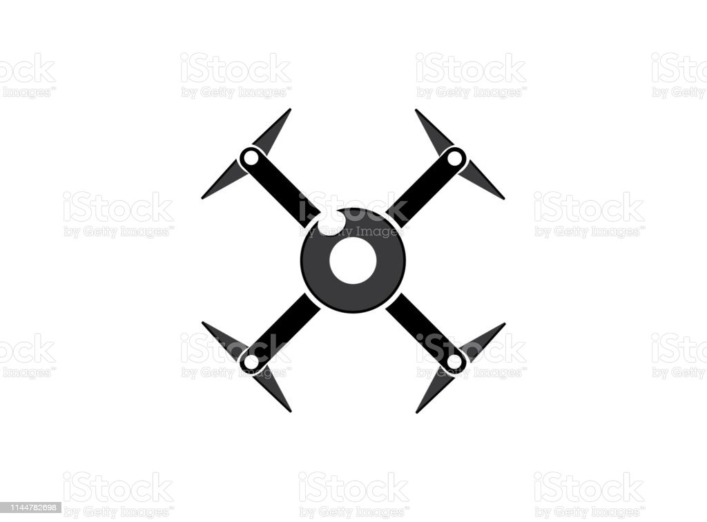 drone quad copter with digital camera at the sky fly for...