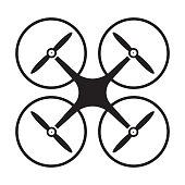istock Drone quadcopter icon vector for graphic design, logo, web site, social media, mobile app, ui illustration 1322427497