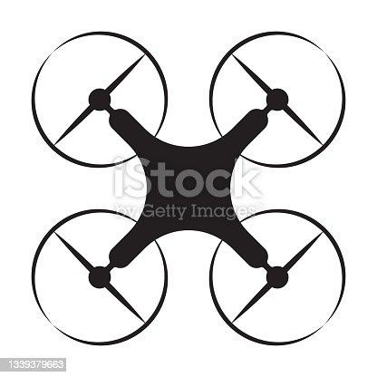 istock Drone quadcopter icon vector for graphic design, logo, website, social media, mobile app, UI illustration 1339379663