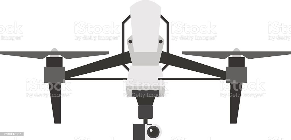 Drone quadcopter vector isolated royalty-free drone quadcopter vector isolated stock vector art & more images of aerial view