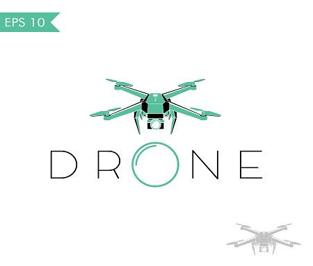 drone quadrocopter logo