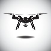 Vector Illustration : Drone the quad-copter