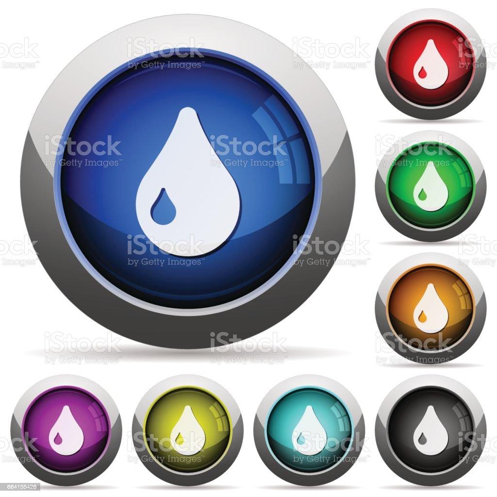 Drop button set drop button set - immagini vettoriali stock e altre immagini di acciaio royalty-free