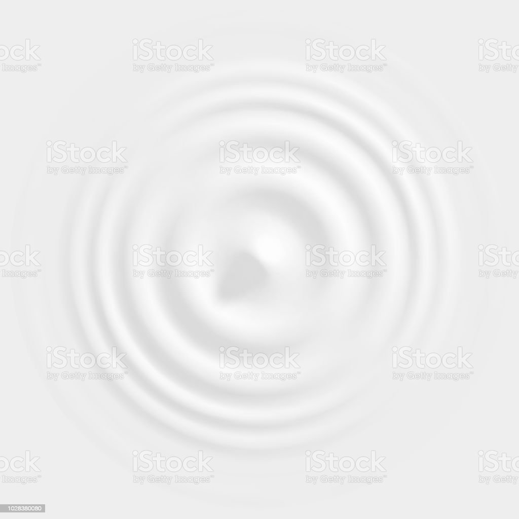 Drop falling into milk, lotion or paint top view royalty-free drop falling into milk lotion or paint top view stock illustration - download image now