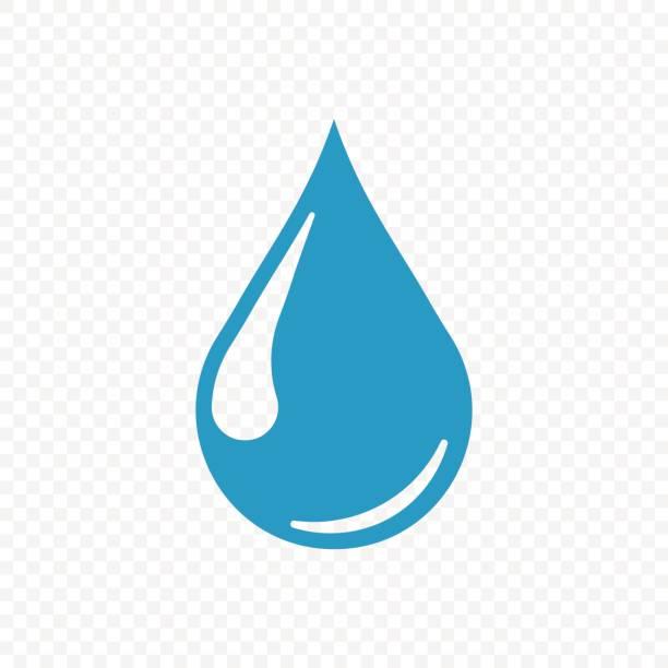 투명 한 배경에 고립 드롭 아이콘입니다. 벡터 일러스트입니다. - water stock illustrations