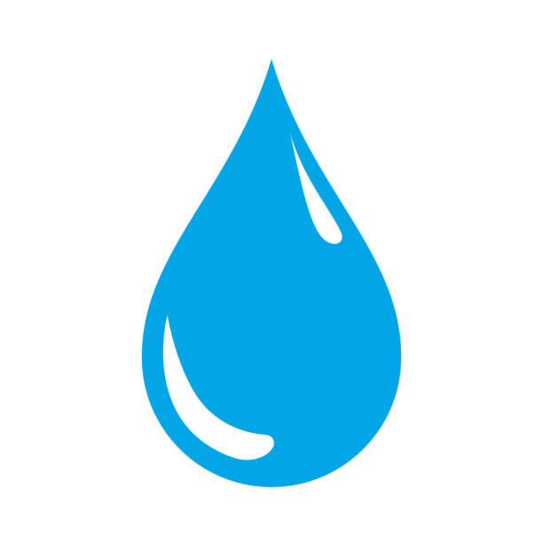 drop icon on white background. water icon. vector. - teardrop stock illustrations, clip art, cartoons, & icons