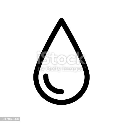 Drop Icon Rain Water Or Oil Symbol Outline Modern Design Element