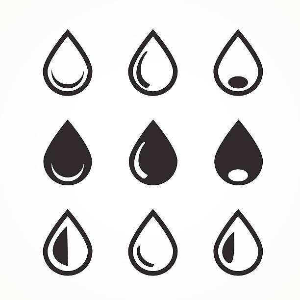 drop icons set - teardrop stock illustrations, clip art, cartoons, & icons