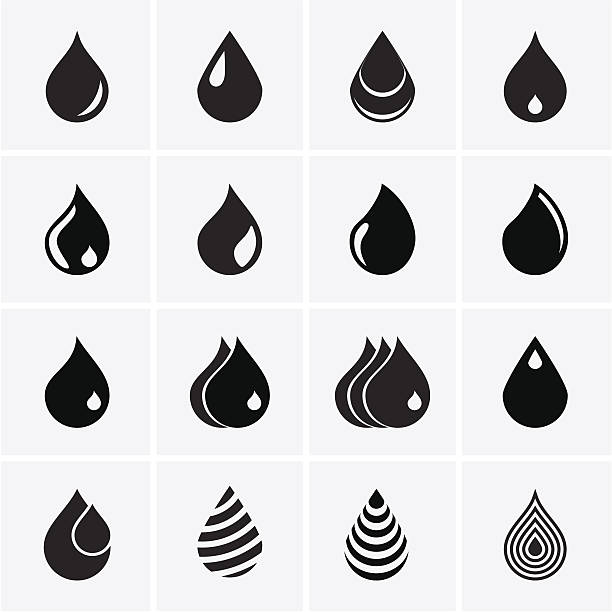 Drop Icons vector art illustration