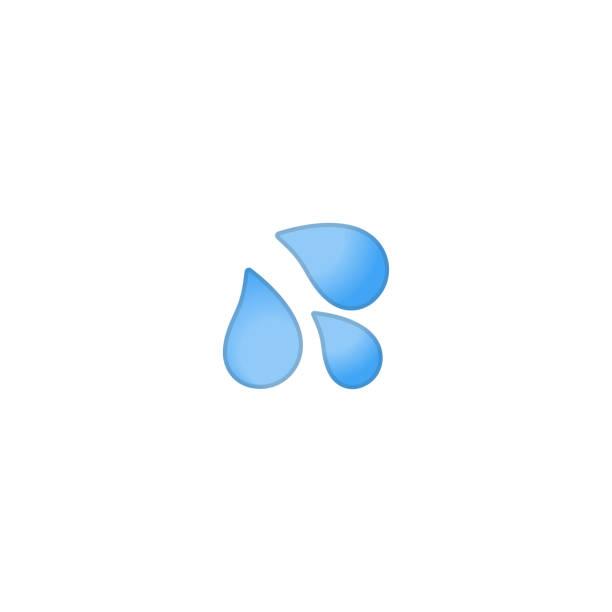 drop isolierte realistische vektor-symbol. wassertropfen illustration emoji, emoticon, symbol - nass stock-grafiken, -clipart, -cartoons und -symbole