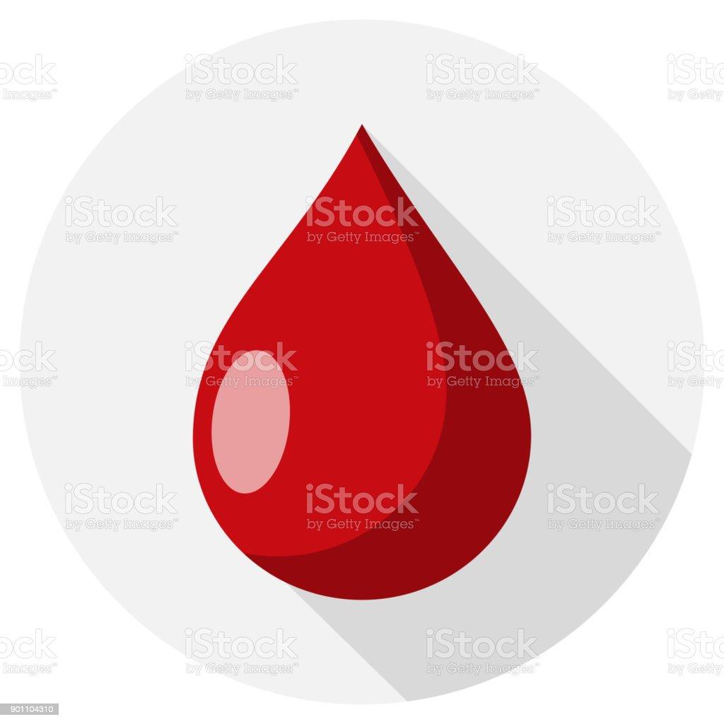 Tropfen Blut flaches Design – Vektorgrafik