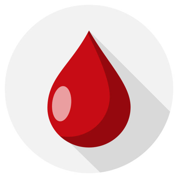 drop of blood Flat Design vector art illustration