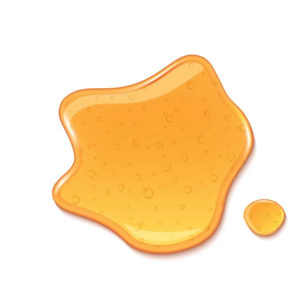 illustrazioni stock, clip art, cartoni animati e icone di tendenza di drop of honey isolated on white background - sciroppo