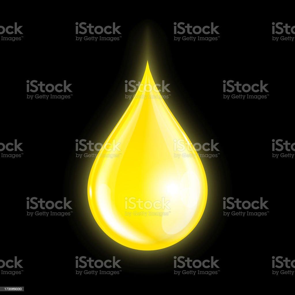 Drop of oil royalty-free stock vector art