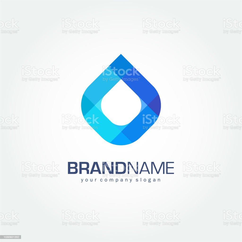 Drop of water vector symbol. Clean water, Spa vector art illustration