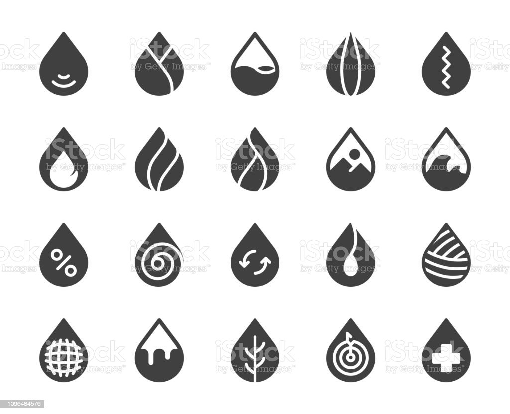 Drop Shape - Icons vector art illustration