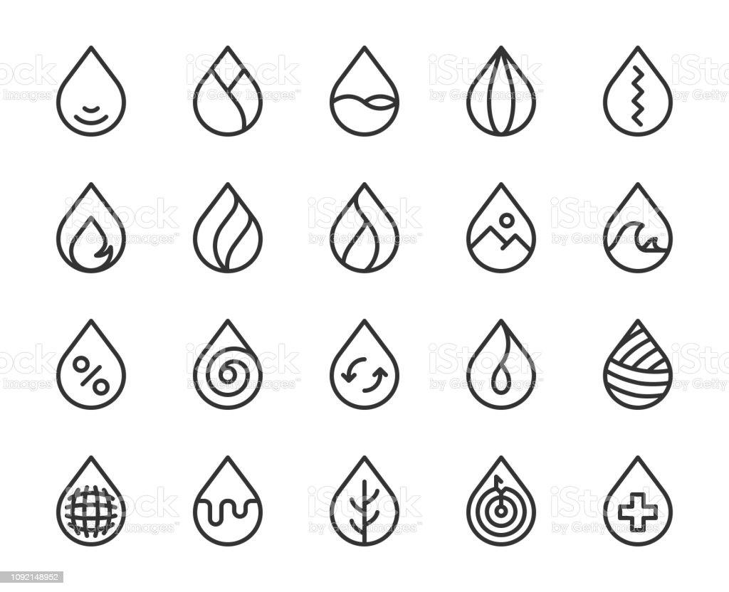 Drop Shape - Line Icons vector art illustration