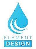 Vector llustration  of the water drop symbol