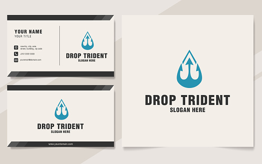 Drop trident symbol template on monogram style