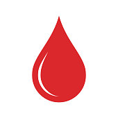Donor blood icon. Symbol of red blood drope. Flat design. Vector illustration