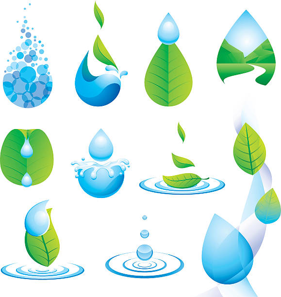 droplet and water - mountains in mist stock illustrations