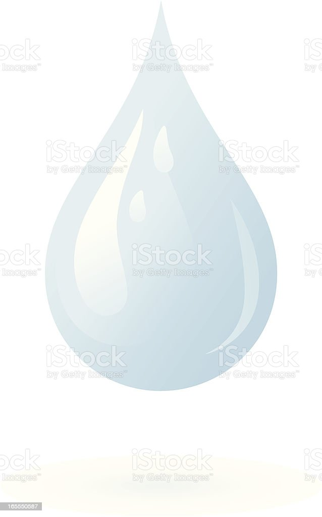 Droplet - incl. jpeg royalty-free stock vector art