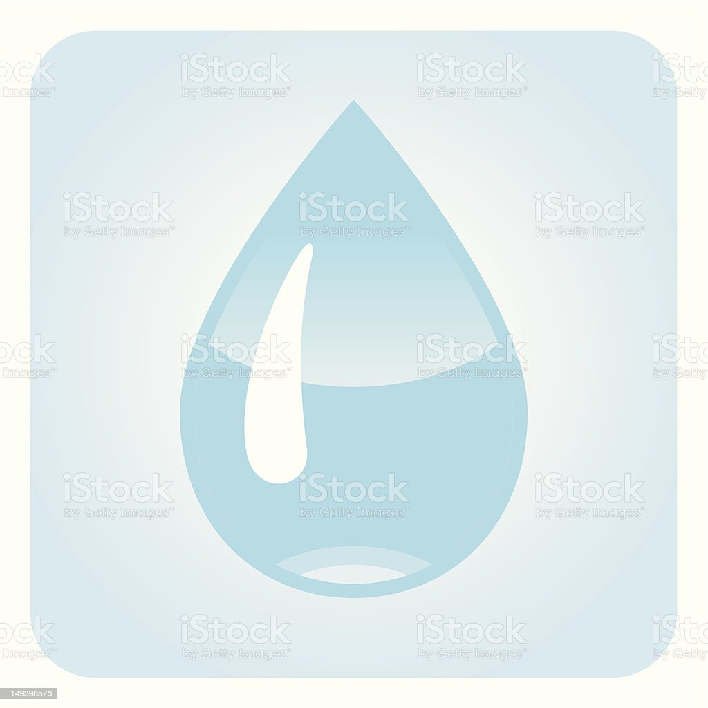 Droplet royalty-free stock vector art