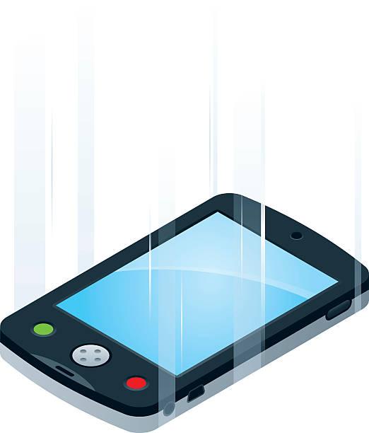 Dropped Smartphone vector art illustration