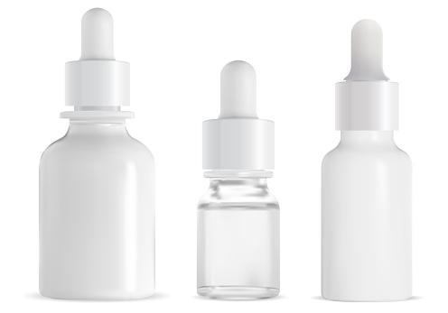 Dropper bottle. Cosmetic serum drop pipette mockup