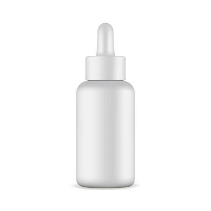 Dropper bottle mockup isolated on white background