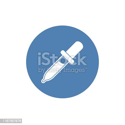 Dropper vector flat pictogram illustration isolated on white background, Dropper icon.