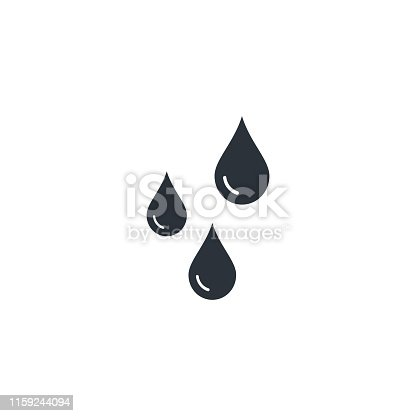 Drops icon Vector flat style isolated illustration.