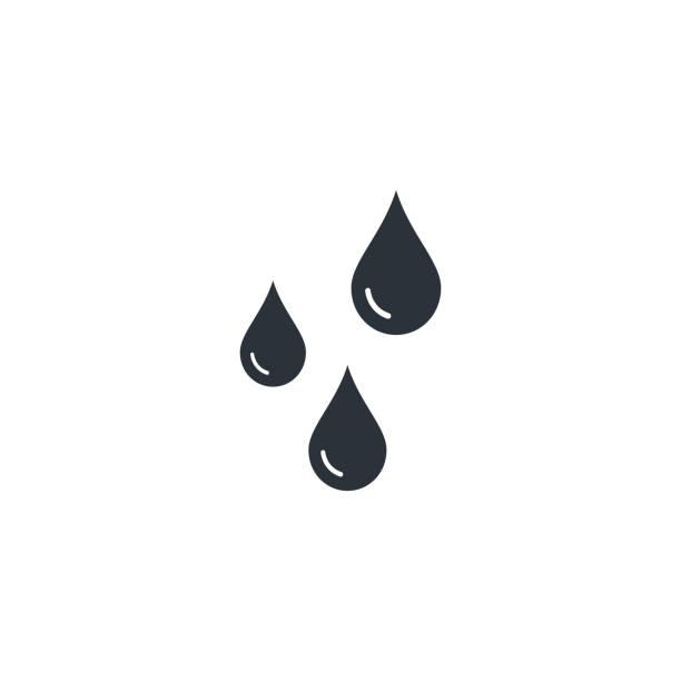 drops ikona wektor płaski styl izolowana ilustracja - kropla stock illustrations
