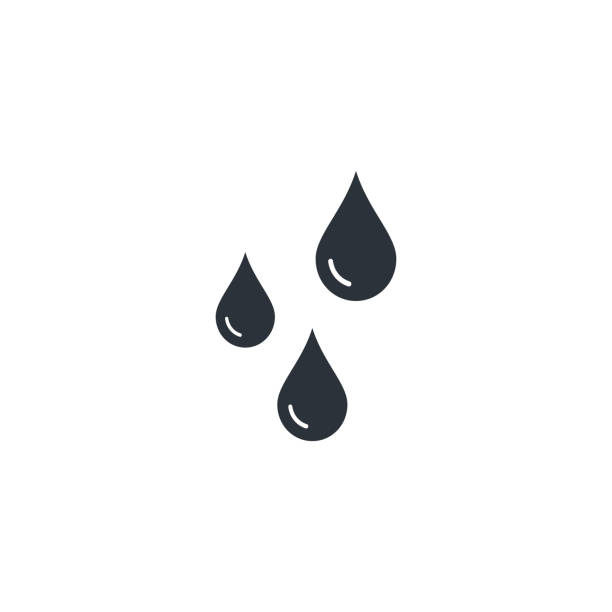 Drops icon Vector flat style isolated illustration Drops icon Vector flat style isolated illustration. raindrop stock illustrations