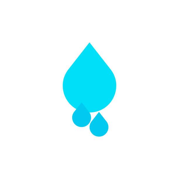 drops icons. vector illustration - teardrop stock illustrations, clip art, cartoons, & icons