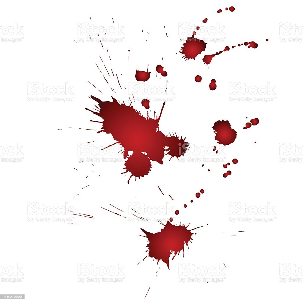 drops of blood vector art illustration