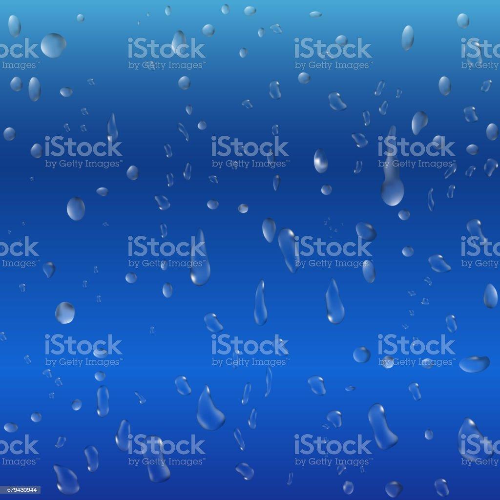 肌寒く雨をオンブルーのガラスの背景 のイラスト素材 579430944 | istock
