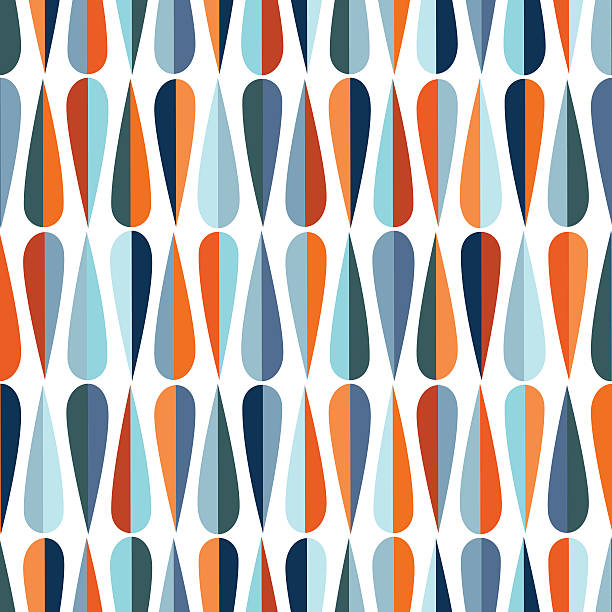 drops seamless pattern - 1950s style stock illustrations, clip art, cartoons, & icons
