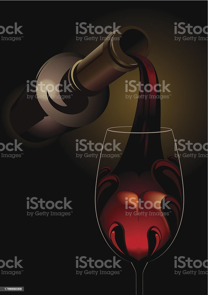 Drown your sorrows - pouring red wine royalty-free drown your sorrows pouring red wine stock vector art & more images of alcohol